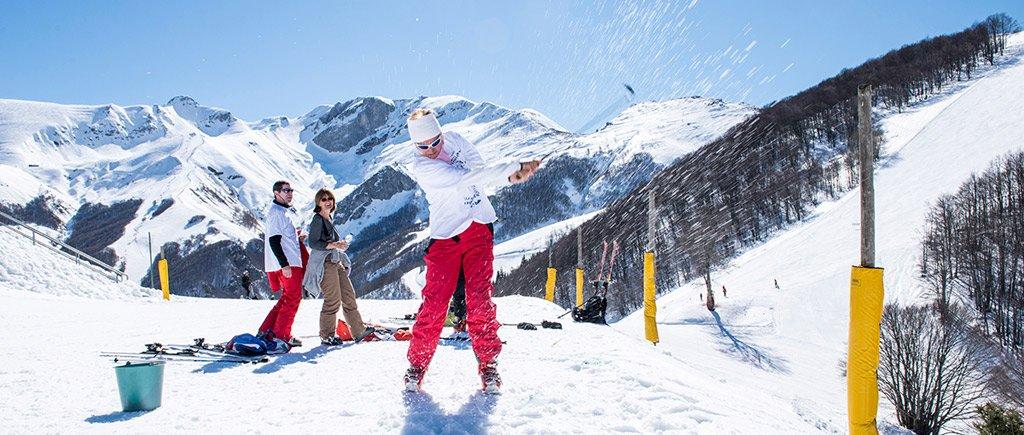 """Il """"golf""""…sulla neve"""