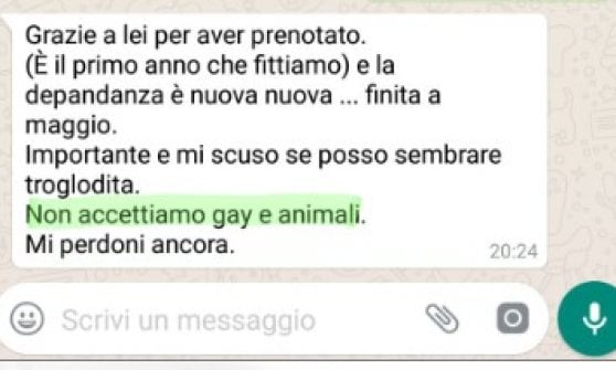 No gay, no animali e no camperisti