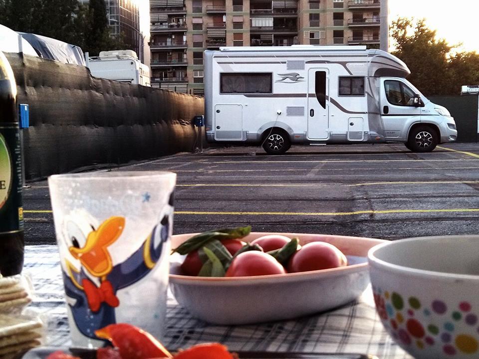 Sosta camper a Roma