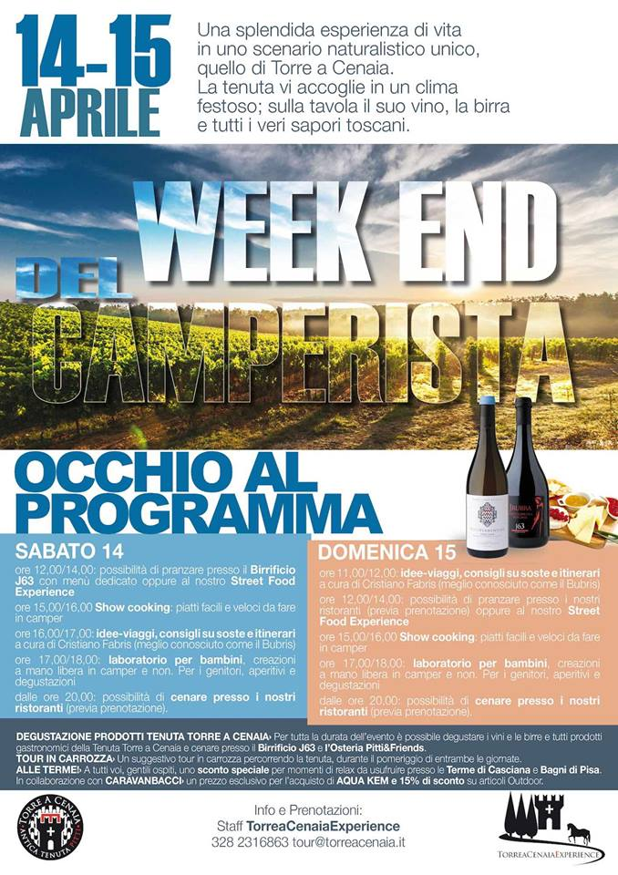 week-end del camperista a Torre a Cenaia (PI)